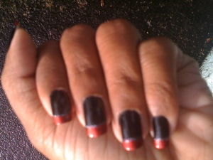 Black & red Nail art