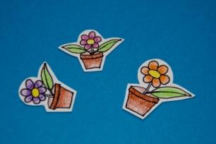 Flower pot sticker