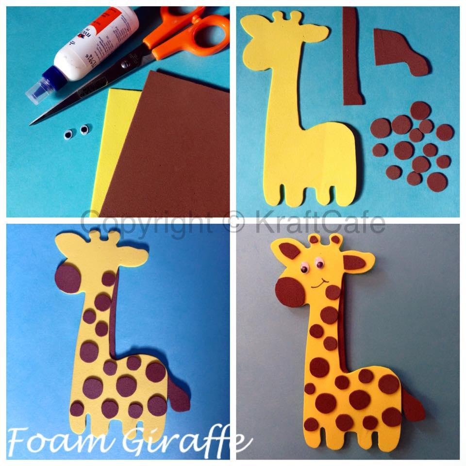 Foam Sheet Giraffe – Varnam Art Class