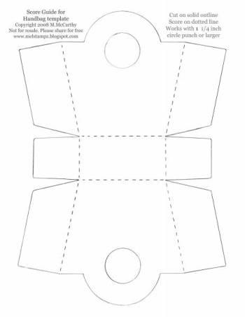 Paper Handbag #1 template
