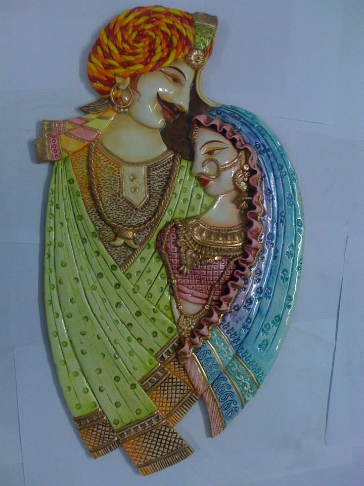 M seal craft work varnam art class for Mural work using m seal
