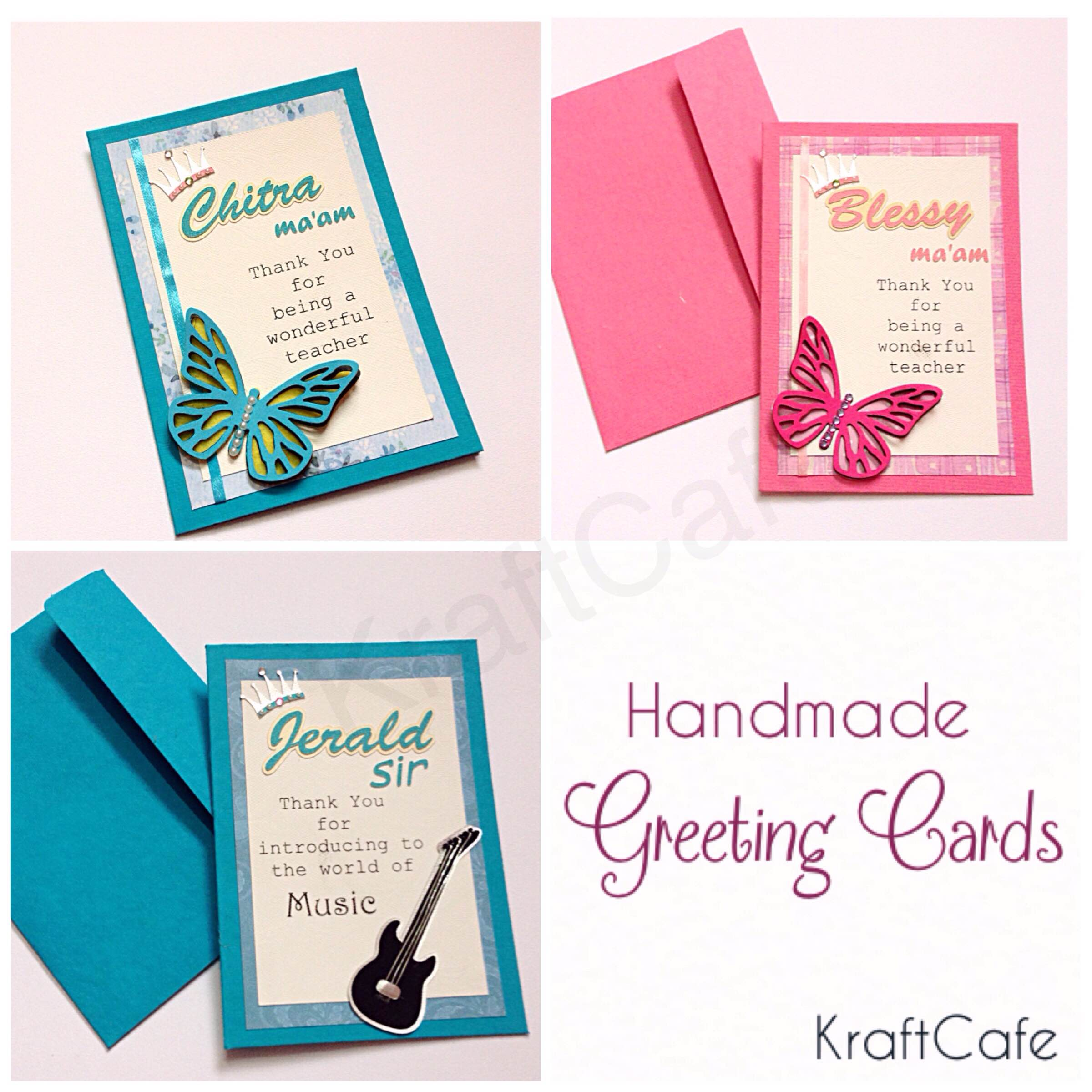 How To Make Thank You Greeting Cards For Teachers Teacher Thank You
